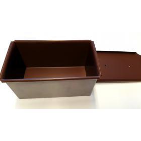Baton / Çavdar Ekmek Kalıbı, Kapaklı (15x10xh10)cm