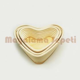Mayalama Sepeti - Kalp (20/16x24xh7)cm